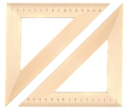 Rulers on a white background. photo