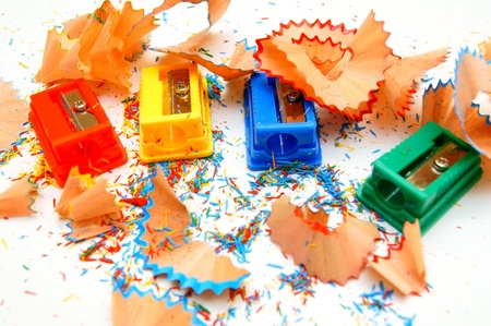 sharpenings: Sharpeners colour. On a white background.