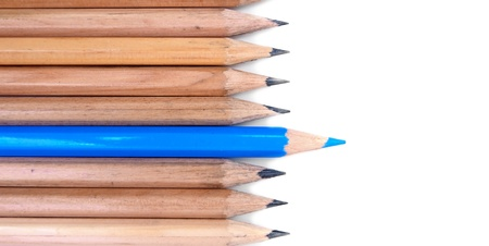 Pencils on a white background  Stock Photo