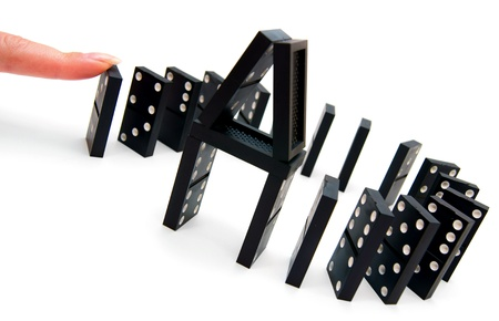 Domino effect  On a white background