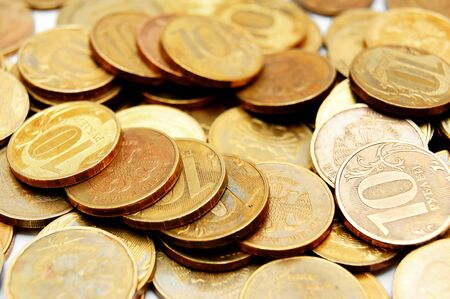 covet: Gold coins   money   Stock Photo