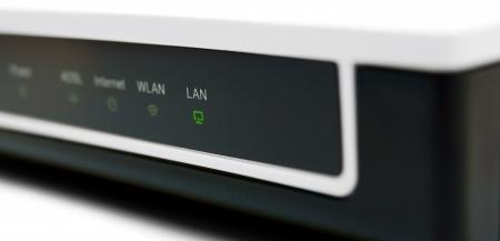 The modem , burns LAN Stock Photo - 13809471