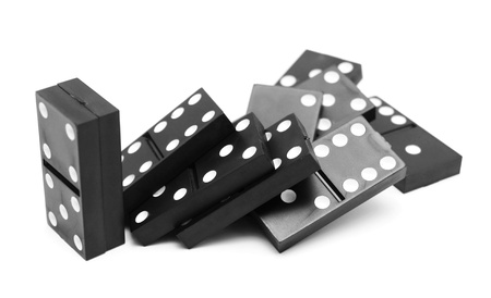 disarray: Dominoes  On a white background