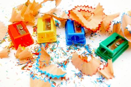 Sharpeners colour  On a white background  Stock Photo - 13806906