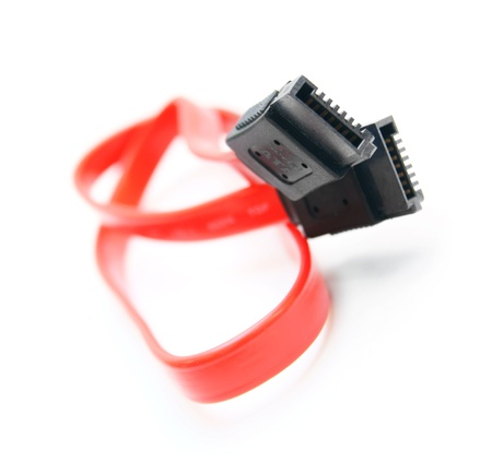 Cable SATA  On a white background  photo