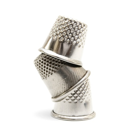 Thimbles  On a white background