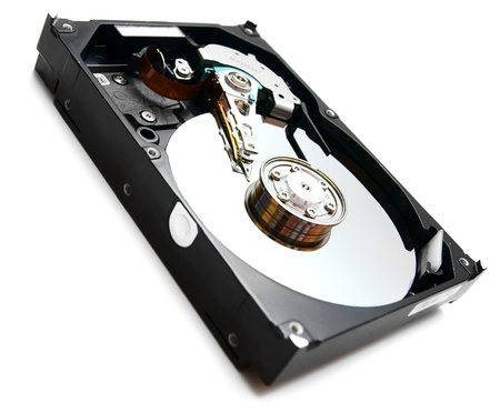 Hard drive  On a white background