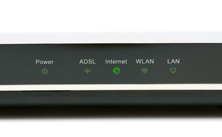 The modem, indicator  Internet   Stock Photo - 13807587
