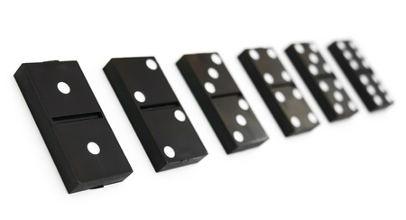 Dominoes on a white background Stock Photo - 13806516