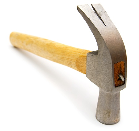 Hammer on a white background   photo
