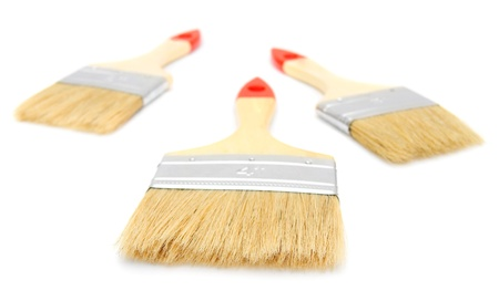 Brushes  On a white background  Stock Photo - 13810433