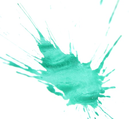 Green stains  On a white background  Stock Photo