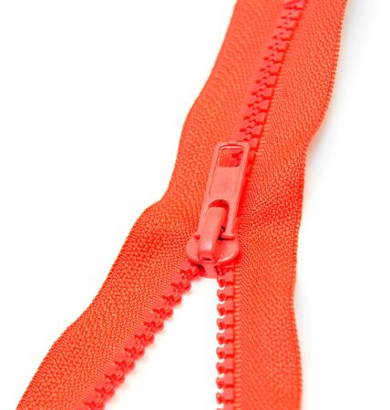Zipper lock  On a white background  Stock Photo
