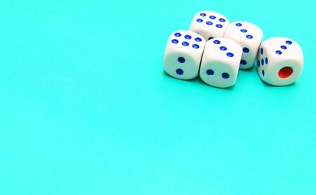 Dices on cloth  photo