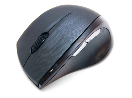 The computer mouse  On a white background  photo