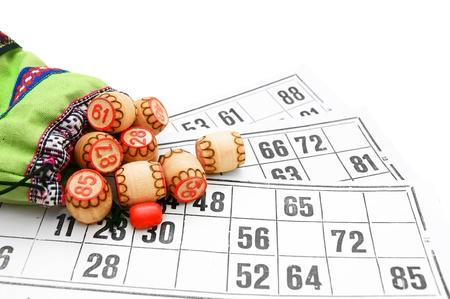 allocated on white: Lotto  On a white background