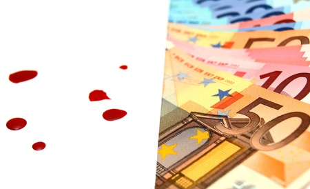 Envelope, blood and money  photo