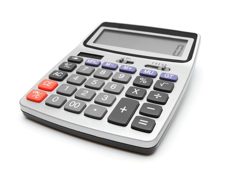 The calculator  On a white background  photo