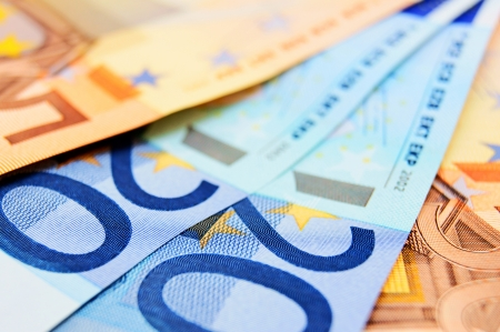 Monetary denominations   Euro   Stock Photo