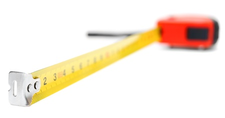 Measuring roulette  On a white background  photo
