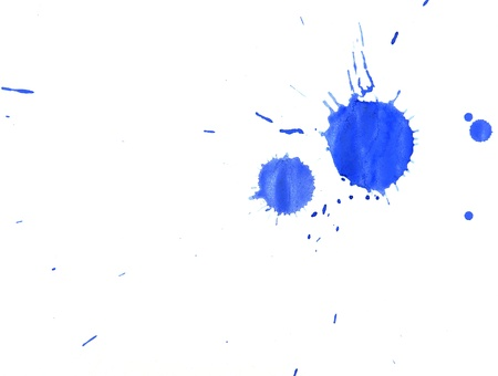 Dark blue stains  On a white background  Stock Photo