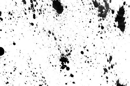 Black splashes on a white background Stock Photo - 13808365