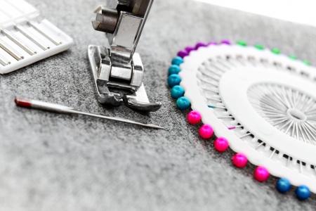 The sewing machine, needles  photo