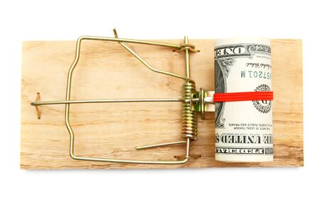 Money in a mousetrap  photo