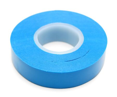 sellotape: Insulating tape on a white background