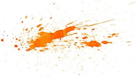 Orange splashes  On a white background