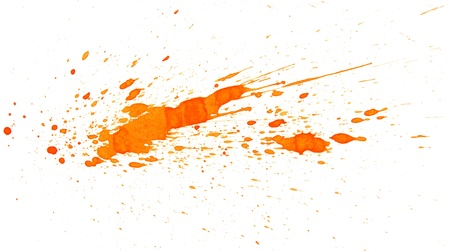 Orange splashes  On a white background