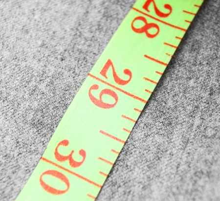Measuring roulette on a fabric  photo