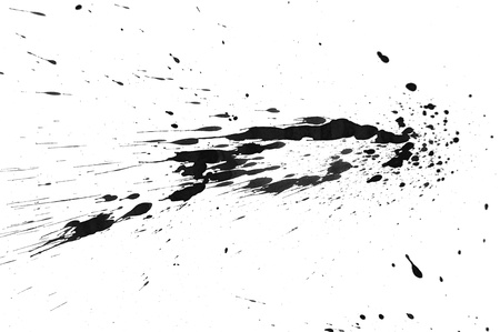 Black splashes  On a white background