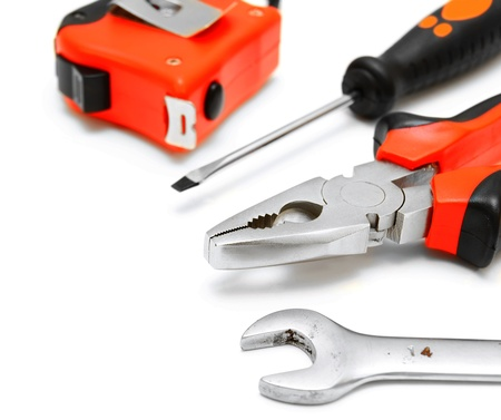 width: Tools  On a white background  Stock Photo