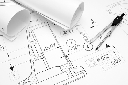 Drawings and compasses  photo