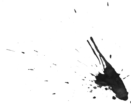 smirch: Black splashes  On a white background