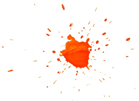Orange stain on a white background