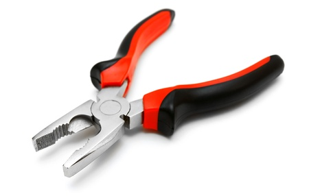 carpenter pincer: Nippers on a white background
