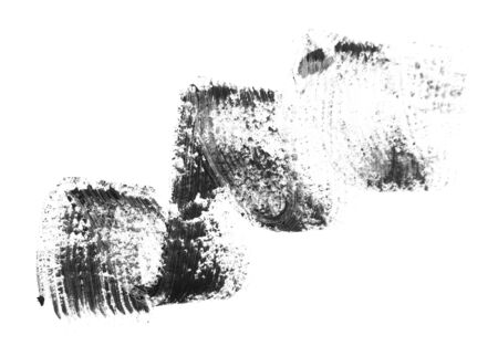 fleecy: Trace from ink for eyelashes  On a white background  Stock Photo