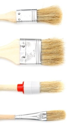 width: Brushes  On a white background