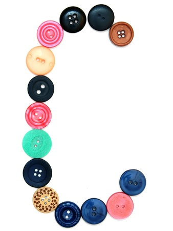 The alphabet from buttons for sewing. On a white background. Stock Photo - 13806326