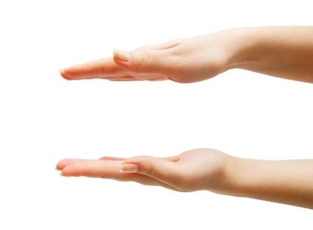 Hands. Auf einem weißen Hintergrund. Isoliert. Standard-Bild - 13806667