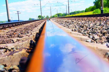 reflexion: Reflexi�n en el tren. Foto de archivo
