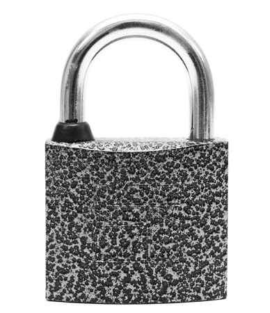 The lock  On a white background  photo