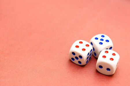 Dices on the cloth . photo
