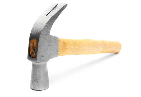 Hammer. On a white background. photo