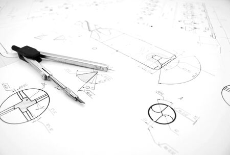 bluelines: Compasses and the drawing .
