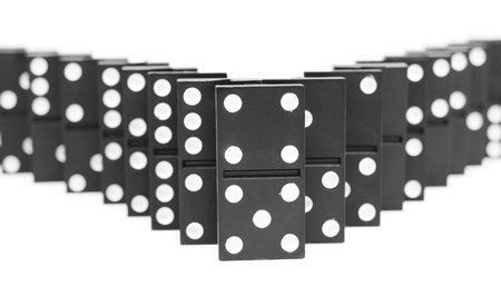 Dominoes. On a white background. Stock Photo