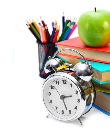 Back to school. School tools. On a white background. Stock Photo - 15266455