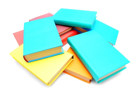 Multi - coloured books . School . photo